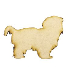 Shih Tzu (Design 03) Craft Blank, Dog Shape Laser Cut from 3mm MDF, Card Topper